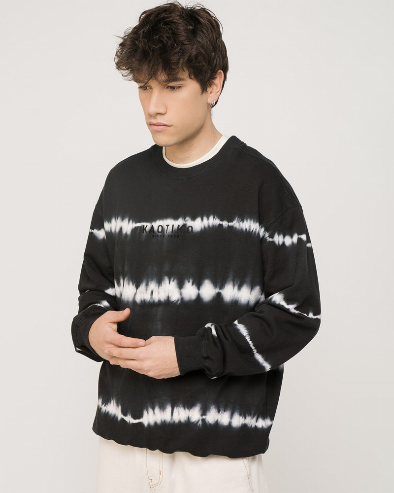 Tie-dye Stripes Black