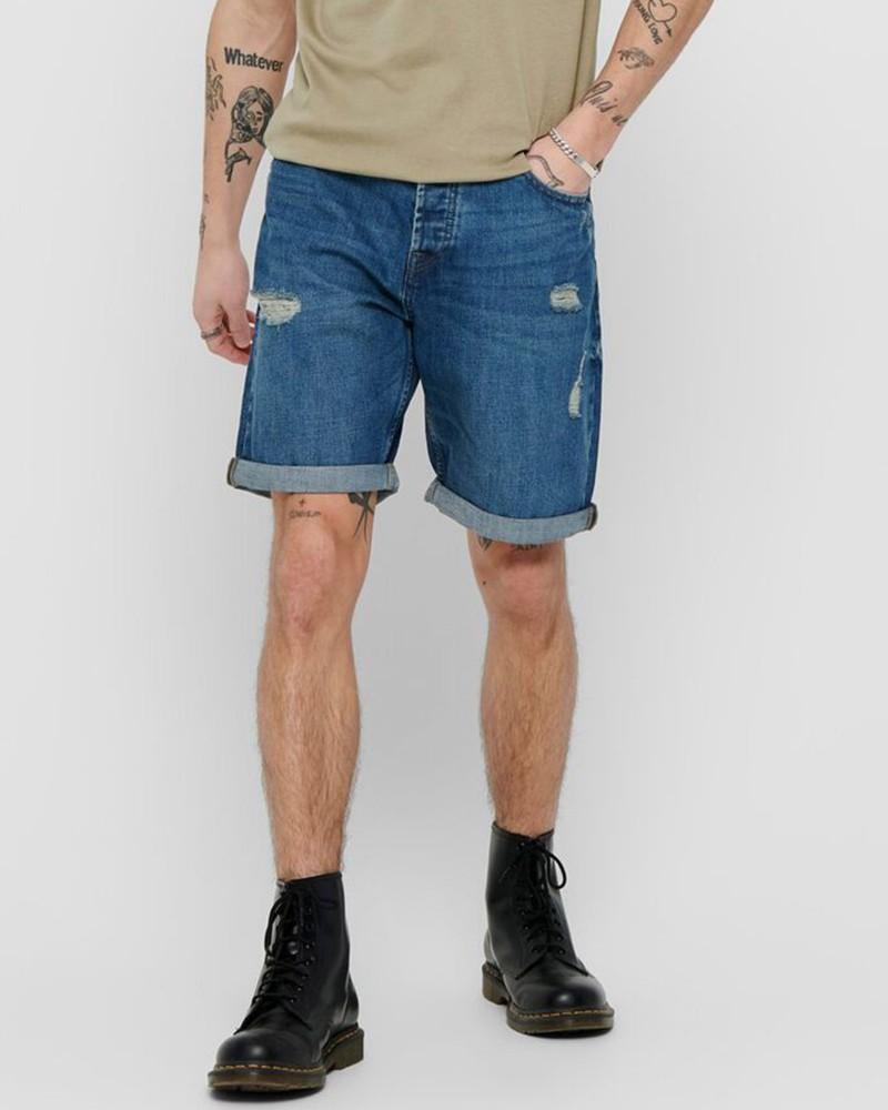 Onsavi Loose Blue Shorts